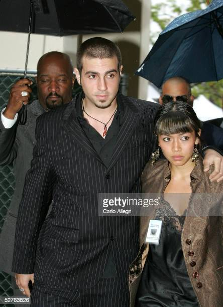 Wade Robson defense witness in the Michael Jackson trial and his fiancee arrive at the Santa Barbara County courthouse for the first day of defense...