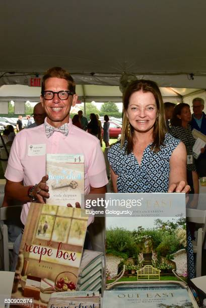 Wade Rouse and Jennifer Ash Rudick attend Authors Night 2017 At The East Hampton Library at The East Hampton Library on August 12 2017 in East...
