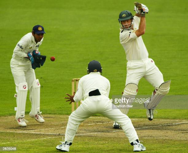 Wade Seccombe of Australia A in action during day three of the Tour Match between India and Australia A played at Bellerive Oval on December 21 2003...