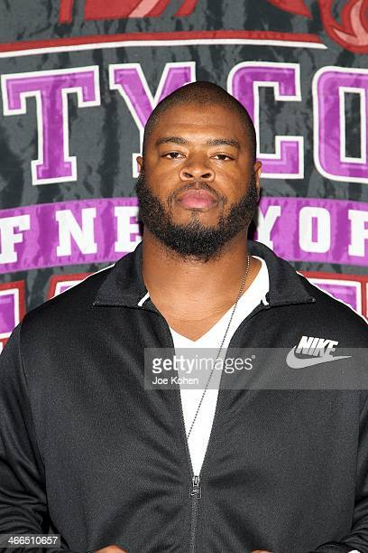 Wade Smith attends Gridiron Celebrity Hoops XVL at Nat Holman Gymnasium at City College of New York on February 1 2014 in New York City