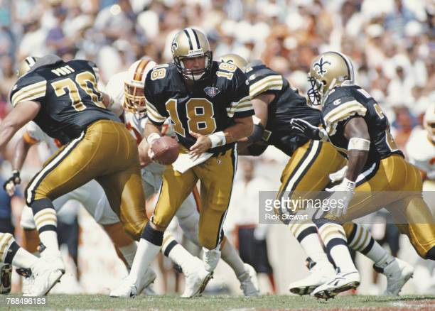 Wade Wilson Quarterback for the New Orleans Saints during the National Football Conference Central game against the Tampa Bay Buccaneers on 18...