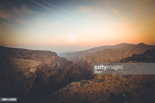 wadi ghul, grand canyon of oman