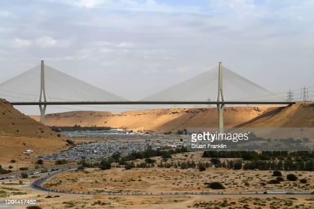 Wadi Laban Bridge / Riyadh City / Peloton / Landscape / during the 1st Saudi Tour 2020, Stage 3 a 119km stage from King Saud University to Al Bujairi...