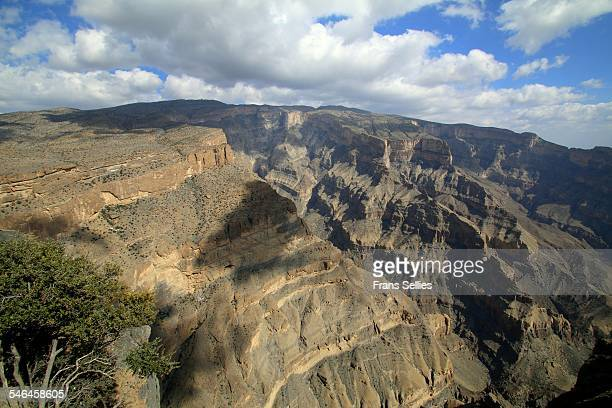 wadi nakhr, also known as the grand canyon of oman - frans sellies stockfoto's en -beelden