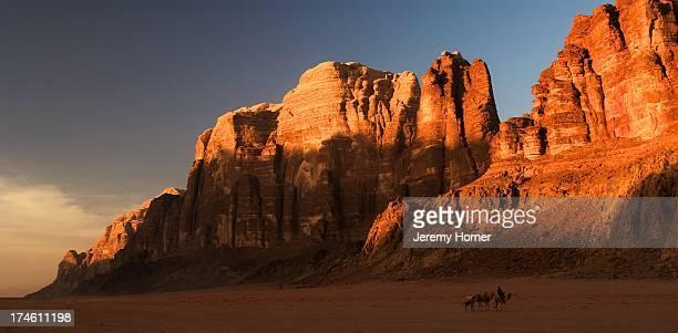 Wadi Rum where the spectacular desert scenes of David Lean's epic film Lawrence of Arabia were filmed southern Jordan