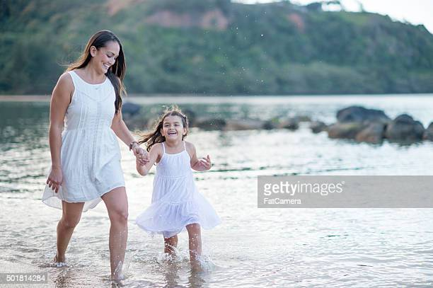 Wading in the Water in Hawaii