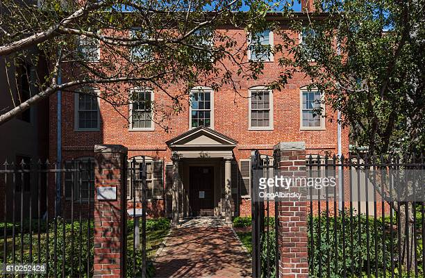 wadsworth-longfellow house, portland, maine, new england, usa. - portland maine stock photos and pictures