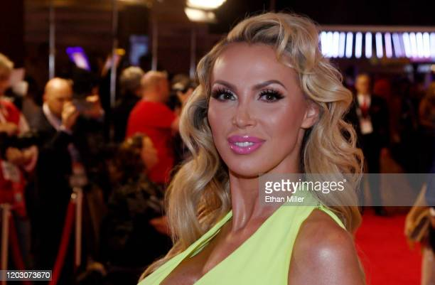 WAdult film actress Nikki Benz attends the 2020 Adult Video News Awards at The Joint inside the Hard Rock Hotel Casino on January 25 2020 in Las...