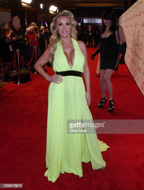 WAdult film actress Nikki Benz attends the 2020 Adult Video News Awards at The Joint inside the Hard Rock Hotel & Casino on January 25, 2020 in Las...