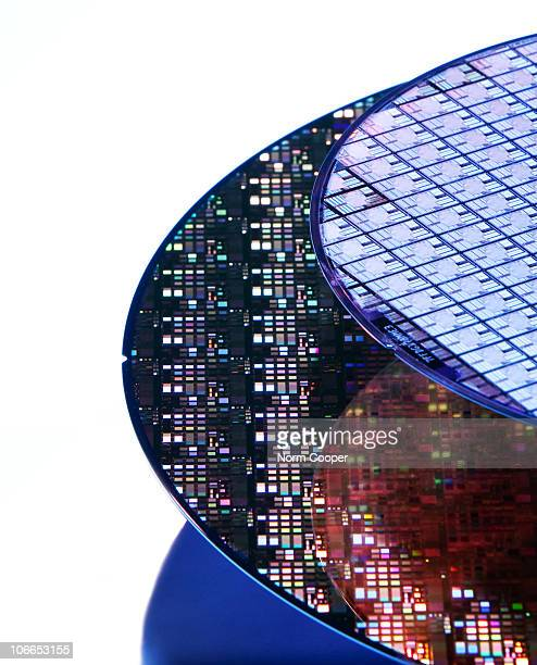 Wafers, close-up