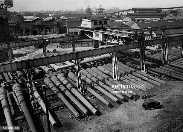 Waffenfabrikation 'Royal Arsenal' in Woolwich EnglandGeschütze fertig zum Versand in dieMarinedepots 1938