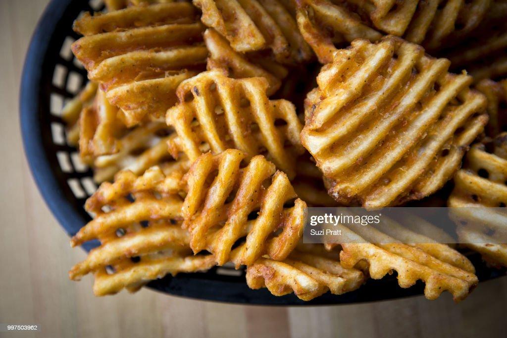 Waffle Fries : Stock Photo