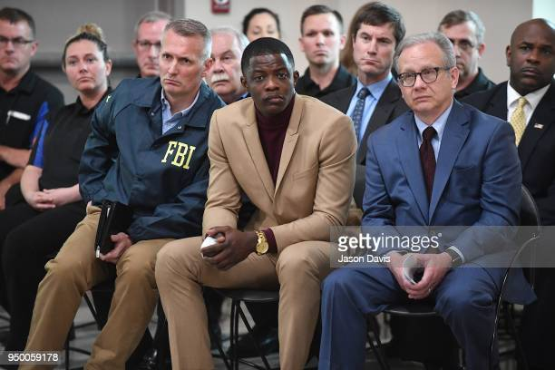 Waffle House patron James Shaw Jr who stopped the shooting at a Waffle House where a gunman opened fire killing four and injuring two attends a press...