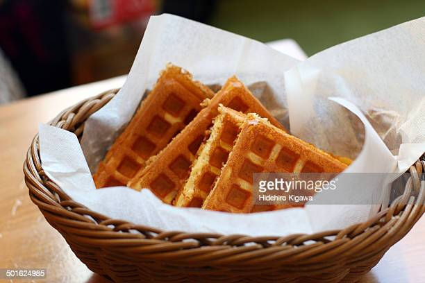 Waffle in the basket