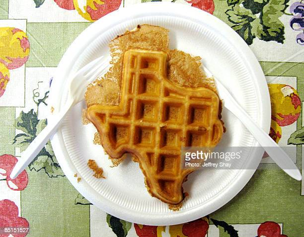waffle, texas sized - texas stock photos and pictures