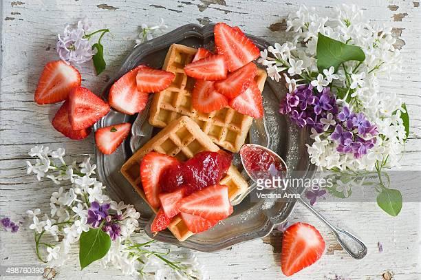 waffles - anna verdina stock photos and pictures