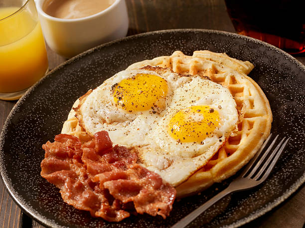 Waffles With Fried Eggs And Bacon Wall Art