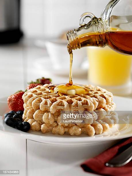 Waffles with Pouring Syrup 3