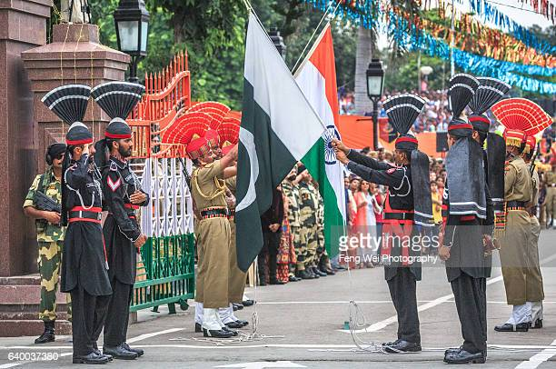 Wagah Border Ceremony, Punjab, Pakistan, August 2015