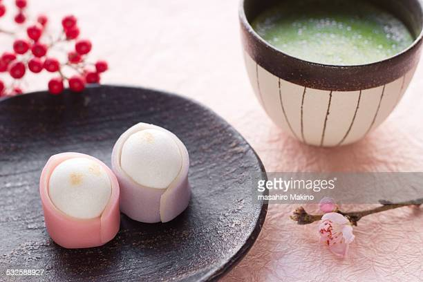 Wagashi and Green Tea
