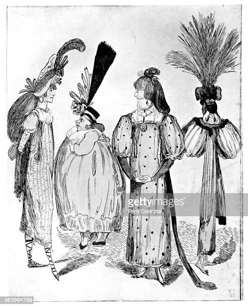 'Waggoners Frocks or No Bodys of 1795' 1795 Illustration from Social Caricature in the Eighteenth Century With over two hundred illustrations by...