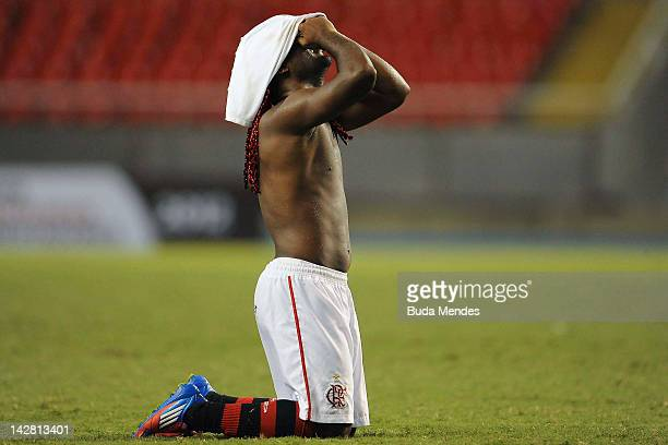 Wagner Love of Flamengo after a match between Flamengo and Lanus as part of the Copa Libertadores 2012 at Joao Havelange Stadium on April 12 2012 in...