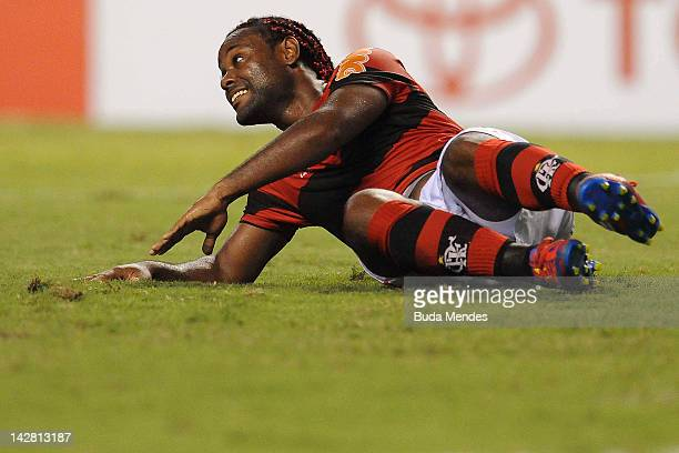 Wagner Love of Flamengo during a match between Flamengo and Lanus as part of the Copa Libertadores 2012 at Joao Havelange Stadium on April 12 2012 in...