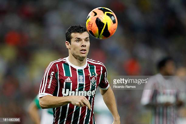 Wagner of Fluminense in action during the match between Fluminense and Coritiba for the Brazilian Series A 2013 at Maracana on September 21 2013 in...