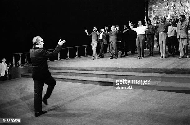Wagner, Wieland - Theatre Director, Germany*-+ - at a rehearsal during the Bayreuth festivals - 1962- Photographer: Jochen Blume- Vintage property of...