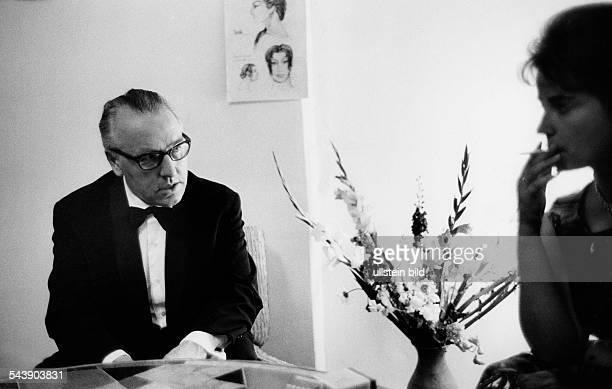 Wagner, Wieland - Theatre Director, Germany*-+ - during the Bayreuth festivals - 1962- Photographer: Jochen Blume- Vintage property of ullstein bild