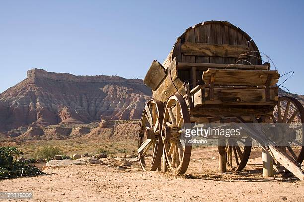 Wagon with mesa out west