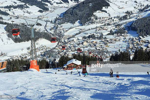 wagrain, austria - alps - pejft stock pictures, royalty-free photos & images