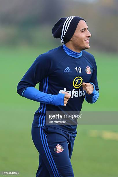 Wahbi Khazri during a SAFC training session at The Academy of Light on December 12 2016 in Sunderland England