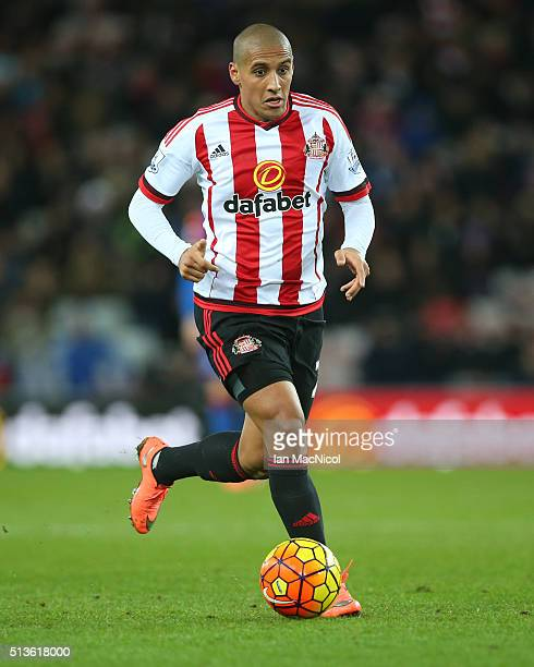 Wahbi Khazri of Sunderland controls the ball during the Barclays Premier League match between Sunderland and Crystal Palace at The Stadium of Light...