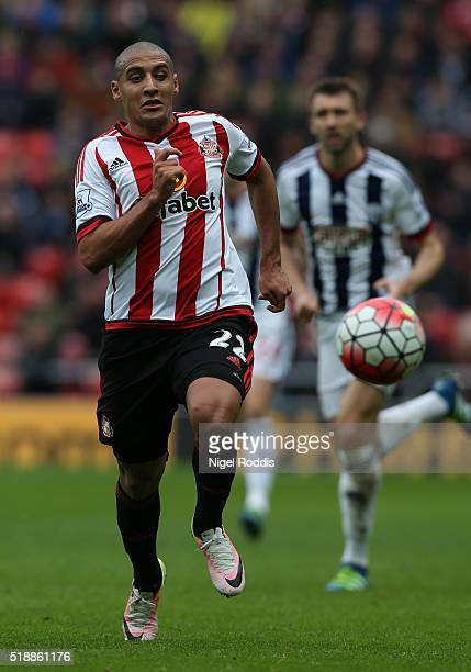 Wahbi Khazri of Sunderland during the Barclays Premier League match between Sunderland and West Bromwich Albion at Stadium of Light on April 2 2016...