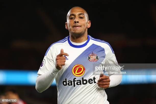 Wahbi Khazri of Sunderland during the Premier League match between Middlesbrough and Sunderland at Riverside Stadium on April 26 2017 in...