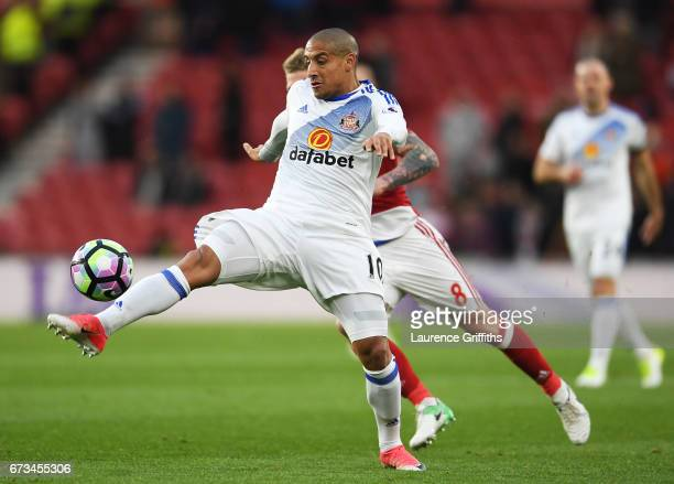 Wahbi Khazri of Sunderland in action during the Premier League match between Middlesbrough and Sunderland at the Riverside Stadium on April 26 2017...