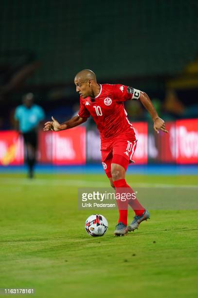 Wahbi Khazri of Tunisia during the 2019 Africa Cup of Nations third place final soccer match between Tunisia and Nigeria at the Al-Salam Stadium on...