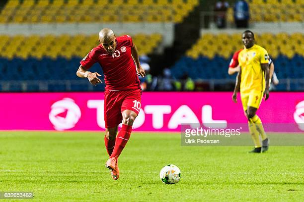Wahbi Khazri of Tunisia during the African Nations Cup match between Zimbabwe and Tunisia on January 23 2017 in Libreville Gabon