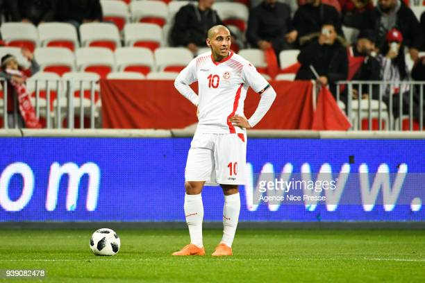 Wahbi Khazri of Tunisia during the International friendly match between Tunisia and Costa Rica at Allianz Riviera Stadium on March 27 2018 in Nice...