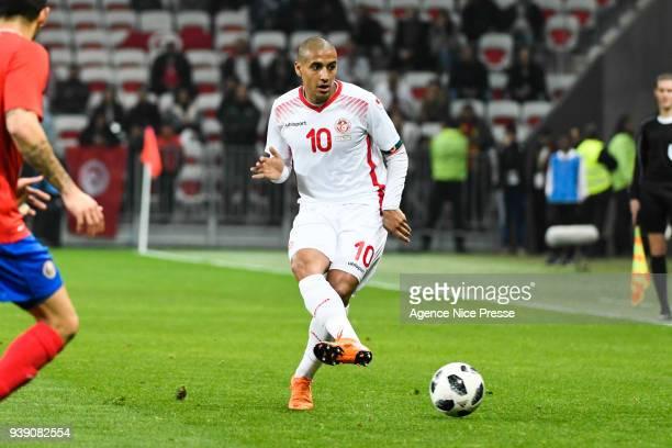 Wahbi Khazri of Tunisia during the International friendly match between Tunisia and Costa Rica at Allianz Riviera Stadium on March 27 2018 in Nice...