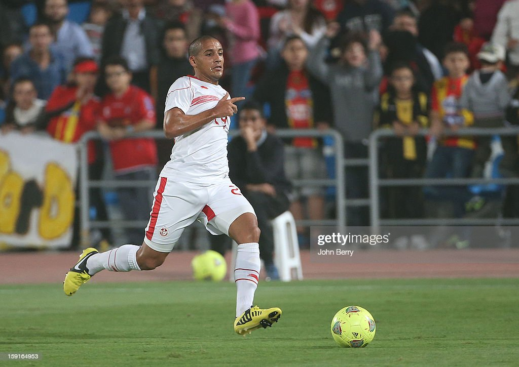 Wahbi Khazri of Tunisia in action during the international friendly game between Tunisia and Ethiopia at the Al Wakrah Stadium on January 7, 2013 in Doha, Qatar.