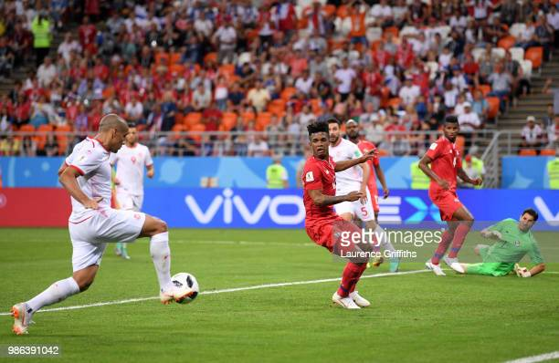 Wahbi Khazri of Tunisia scores his team's second goal during the 2018 FIFA World Cup Russia group G match between Panama and Tunisia at Mordovia...