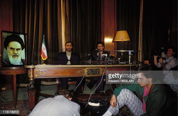 Wahid Pordji press conference at Paris Iran embassy On July 2nd 1987 In Paris France