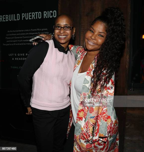 Wahida Clark and Misa HyltonBrim attends The Pink Panther Clique book release party hosted by Yandy Smith at Manhattan Brew Vine on October 3 2017 in...