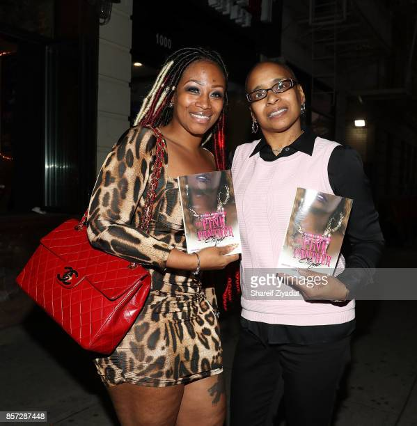 Wahida Clark and Sunshinse SmithWilliams attends The Pink Panther Clique book release party hosted by Yandy Smith at Manhattan Brew Vine on October 3...