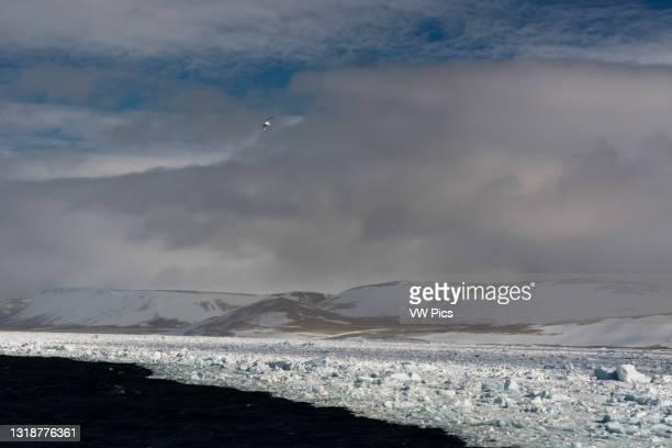 Wahlenberg fjord, Nordaustlandet, Svalbard Islands, Norway..