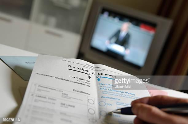 Wahlunterlagen zur bevorstehenden Bundestagswahl am 22 September 2013