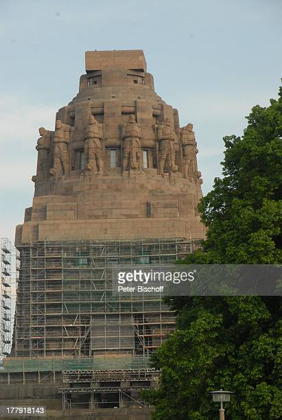 """Wahrzeichen """"Völkerschlachtdenkmal"""" (größtes Denkmal Europas , Leipzig, Sachsen, Deutschland, Europa, Sehenswürdigkeit, Baumaterial: Beuchaer..."""