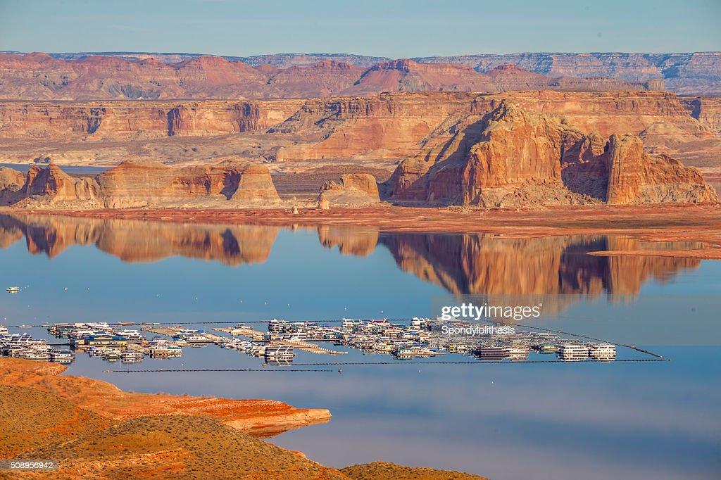 Wahweap Marina Lake Powell Page Arizona Stock Photo